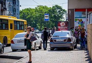 Посадка и высадка пассажиров на автобусной остановке пдд