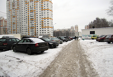 как парковаться зимой