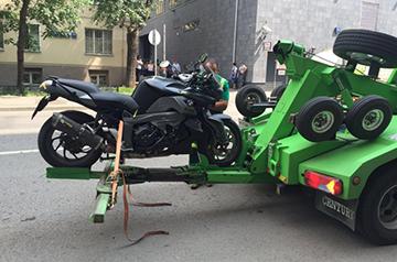 вывоз мотоцикла на штрафстоянку