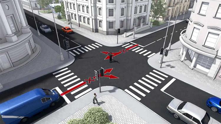 перекресток со светофорами