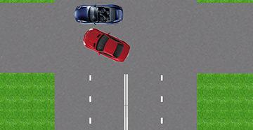 поворот и авария