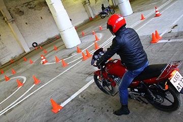 экзамен на мотоцикл